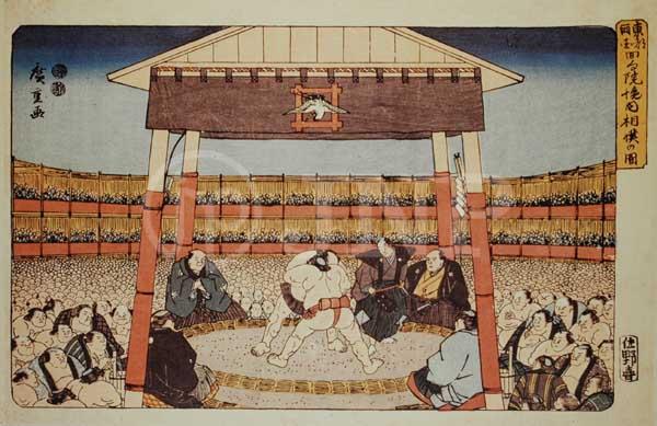 相撲 江戸時代 浮世絵