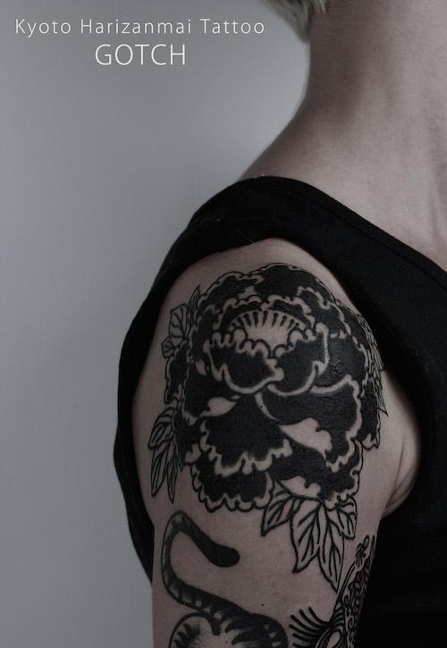 kyoto harizanmai tattoo blog black peony